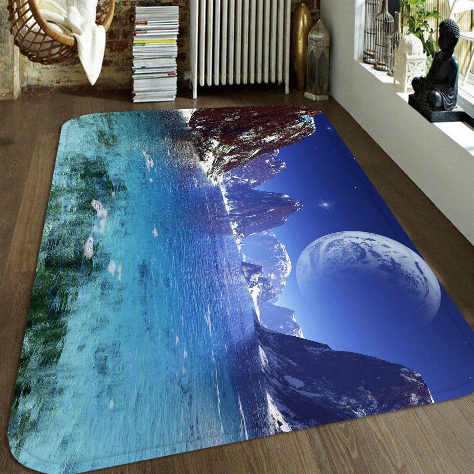3D 3D 3D Planète River 225 Étage Antidérapant Natte Élégant Tapis FR Summer 1e2767