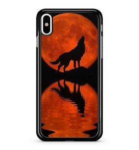 BLACK-ululare-NIGHT-WOLF-Rosso-Galactic-Riflettente-Full-Moon-2D-TELEPHONO-CASE-COVER