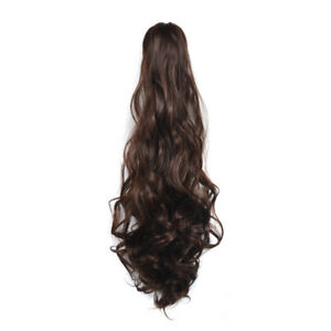 Details About Dark Auburn Mix Thick Wavy Claw Clip In Hair Extensions Ponytail 21 6 Inch