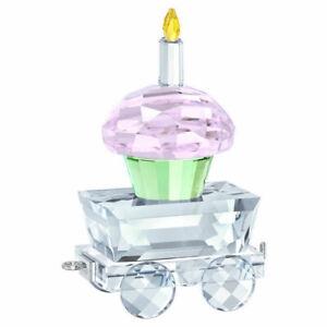 Swarovski-First-Steps-Clear-Pink-Green-amp-Yellow-Crystal-Cupcake-Wagon-5377674