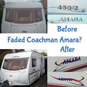 MODERNISE-COACHMAN-AMARA-CARAVAN-STICKERS-DECALS-GRAPHICS-FULL-SET-FADED-NEW-KIT