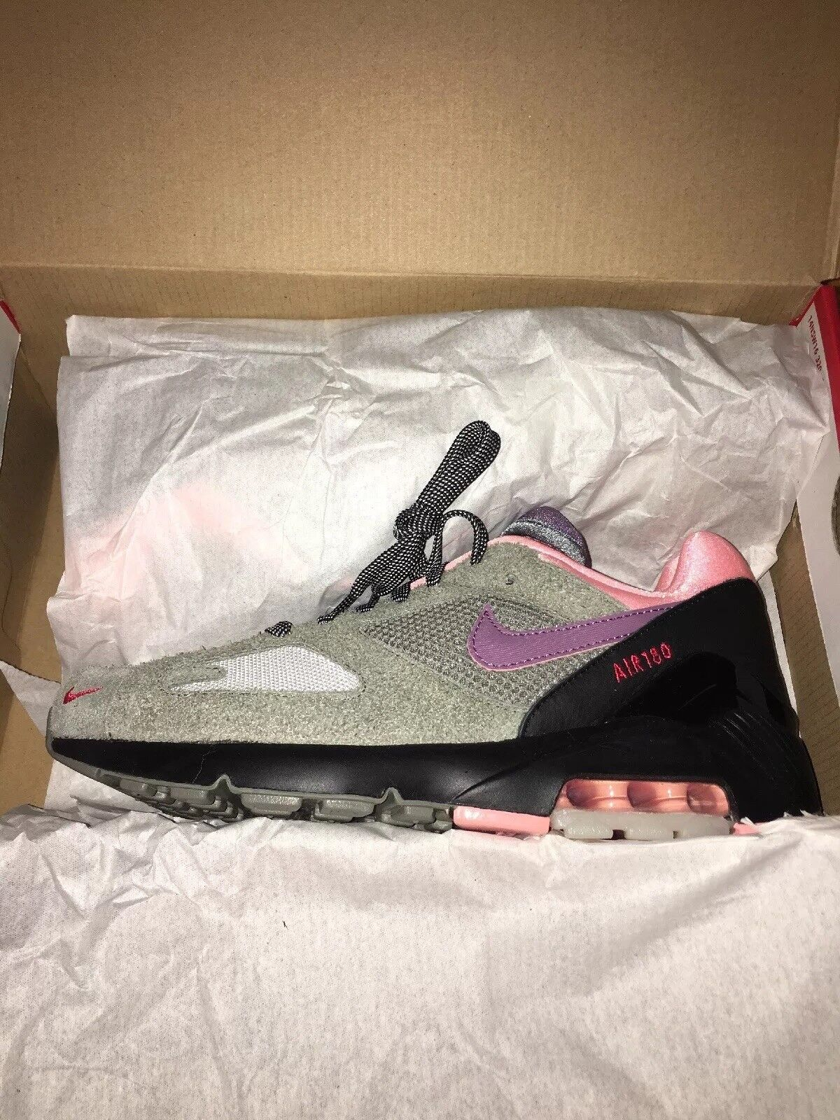 Nike Air Max 180 Dusk To Dawn Black, Grey, Red and Pink Mens Size 7