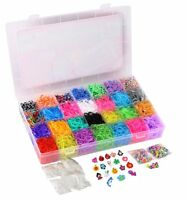 Rainbow Loom Rubber Bands Refill 10000pc Bracelet Kit Storage Case Organizer