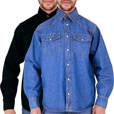Sincero Con Marchio Da Uomo Azteco Camicie Di Jeans Stonewash & Nero S M L Xl 2xl 3xl 4xl 5xl 6xl-mostra Il Titolo Originale Tieniti In Forma Per Tutto Il Tempo
