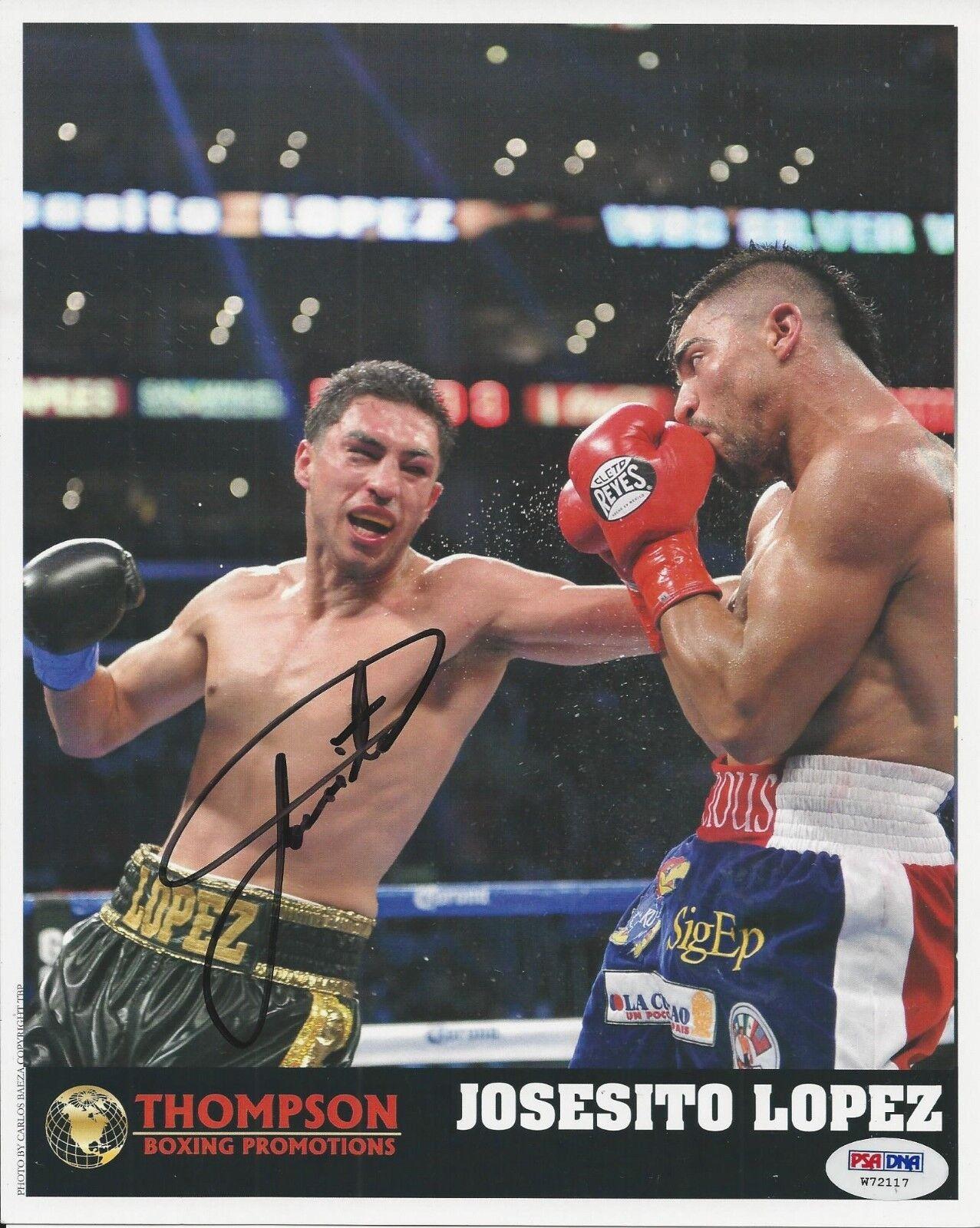 Josesito Lopez signed 8x10 Boxing Photo PSA/DNA # W72117