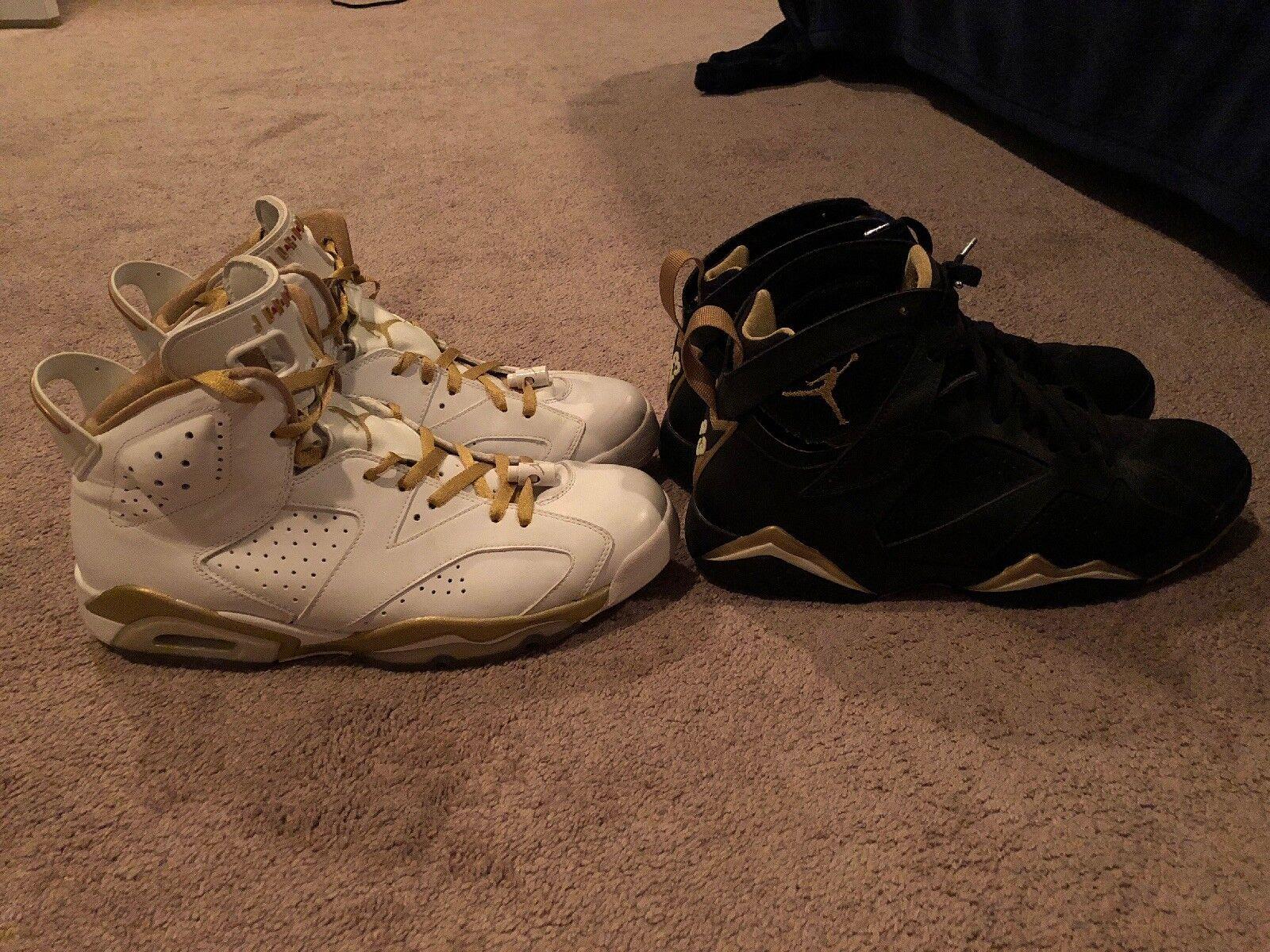 Air Jordan Retro VI and VII, golden Moments size 12
