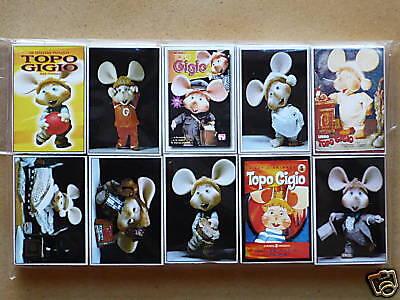 RARE TOPO GIGIO JIJO TOPOLINO LOT 10 MATCH BOXES PEREGO