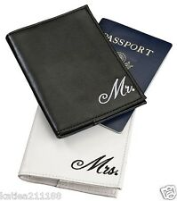 wedding Mr & Mrs black and white passport covers gift set honeymoon present