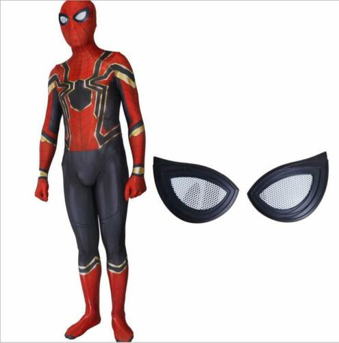 Iron Spiderman Adult//Kids Spider-Man Homecoming Cosplay Costume 3D printing