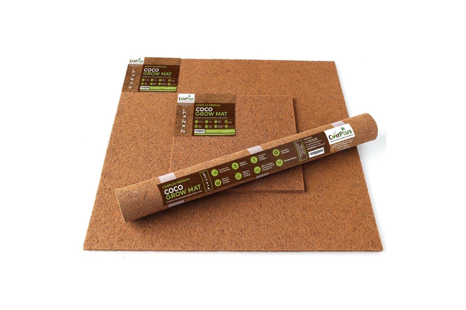CoirPlus Premium Coco Grow Mat [OMRI Listed]: 4' x 4' x 1