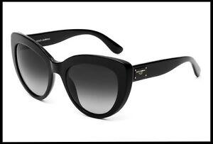 ced39c3ac108 Details about Dolce & Gabbana D&G women's Cat Eyes Black Sunglasses set  grey gradient Lens New