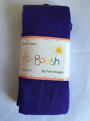 BNWT Ka-Boosh Brand Girls Age 4-6 Years Lovely Cream Thick Footed Style Tights