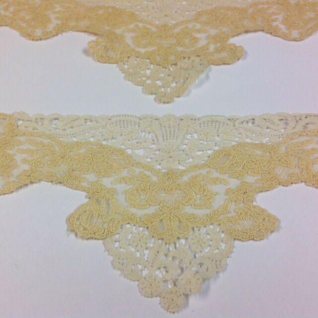 Antique / Vintage Matching Pair Lace Trims For Dress / Costume