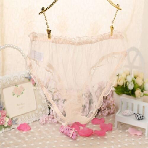 Women Perspective Briefs Knickers Bikini Lingerie Underwear Lace Sheer Panties
