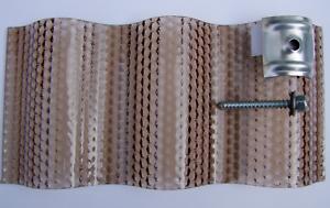 Polycarbonat Lichtplatten  2,8 mm Sinus 76//18 Wabe bronze  23,50 €//qm