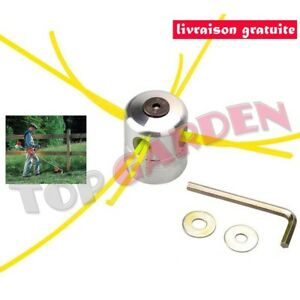 Aluminium-Fil-Tete-pour-Motorsense-Debroussailleuse-Tondeuse-a-Gazon-avec-4-Fils
