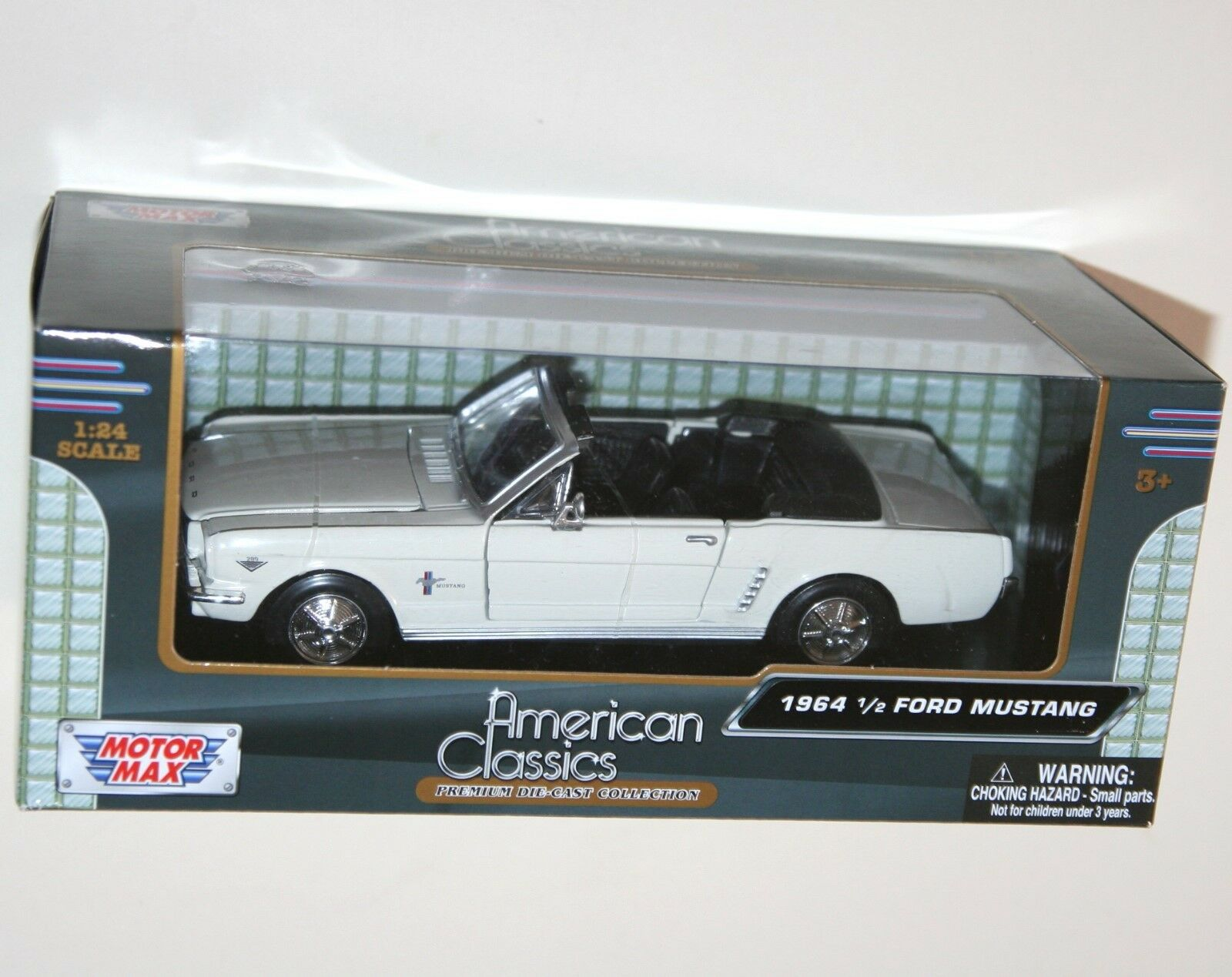 Motor Max - 1964 FORD FORD FORD MUSTANG Congreenible (Cream) - Model Scale 1 24 4736f4