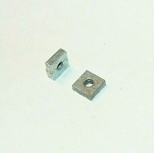 #6-32 Coarse Thread Square Machine Screw Nut Zinc Plated