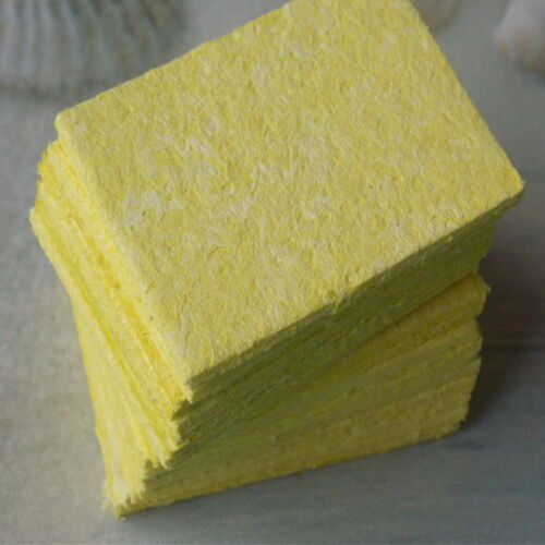 #10X Yellow Cleaning Sponge Cleaner for Enduring Welding Electric Iron Soldering