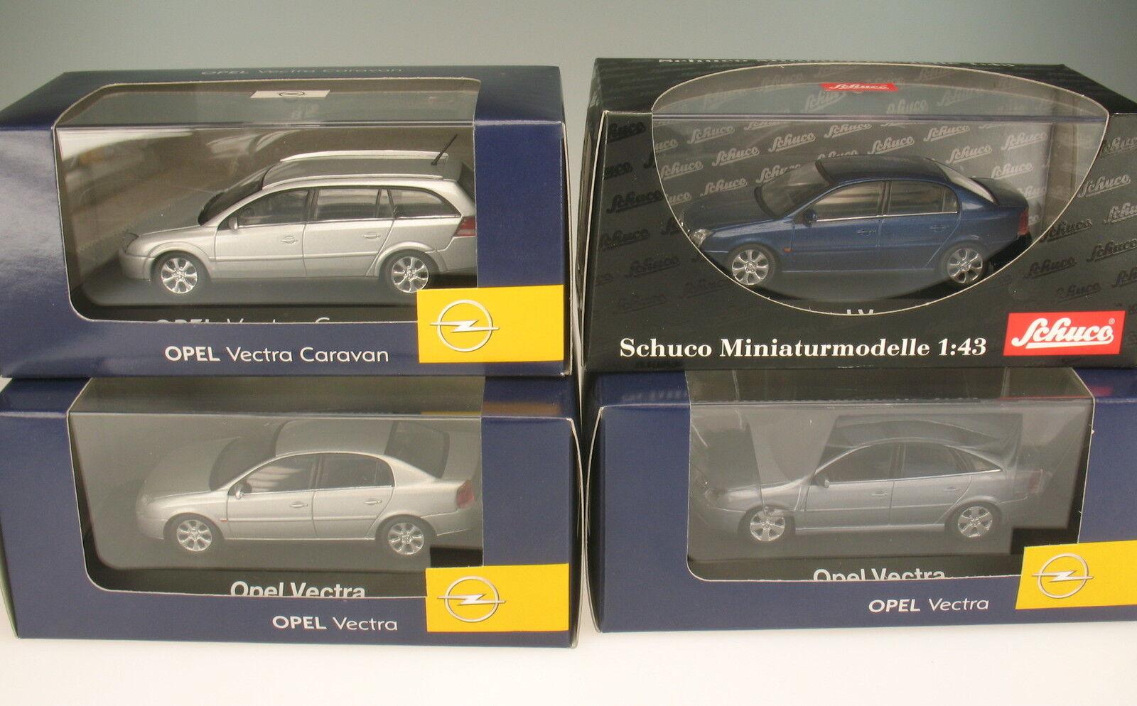 Schuco colección - 4x Opel Vectra-C-GTS-Cocheavan - 1 43 - nuevo en caja original