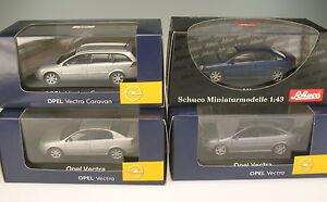 Schuco-coleccion-4x-Opel-Vectra-C-GTS-Caravan-1-43-nuevo-en-caja-original