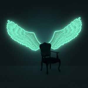 Details about Luminous Angel-Wings ( glow-in-the-dark wings wall-sticker )