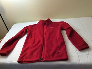 41d19e4ae192 COLUMBIA Fleece Winter Jacket RED Full Zip Youth Size 14 16 Unisex ...