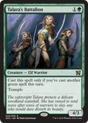 4x Talara's Battalion NM-Mint, English Duel Decks: Elves vs. Inventors MTG Magic