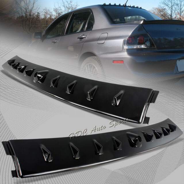 For Mitsubishi Lancer EVO 8 9 Glossy Black Shark Fin Rear Roof Vortex Spoiler