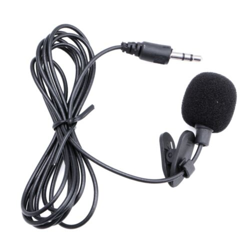 Black 3.5mm Hands Free Clip on Mini Lapel Microphone For Laptop Computer PC UK