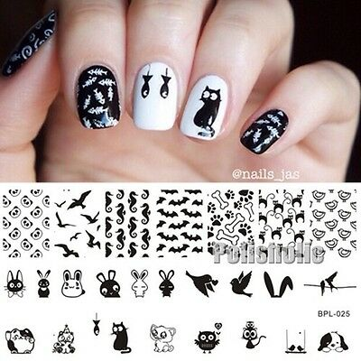 Nail Art Stamp Plates Animal Theme Stamping Image Template BP-L025 12.5 x 6.5cm