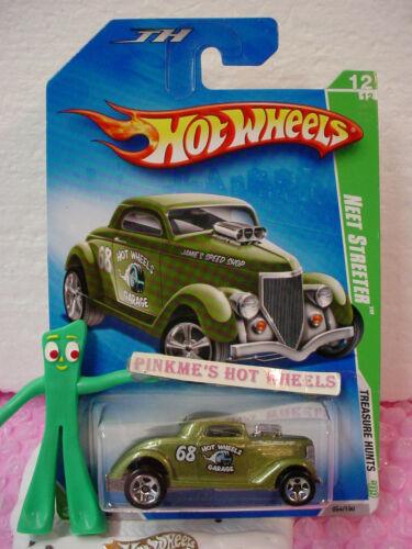 2009 Hot Wheels Treasure Hunt #12 NEET STREETER ✿Hot Rod Olive Green✿ Jamie
