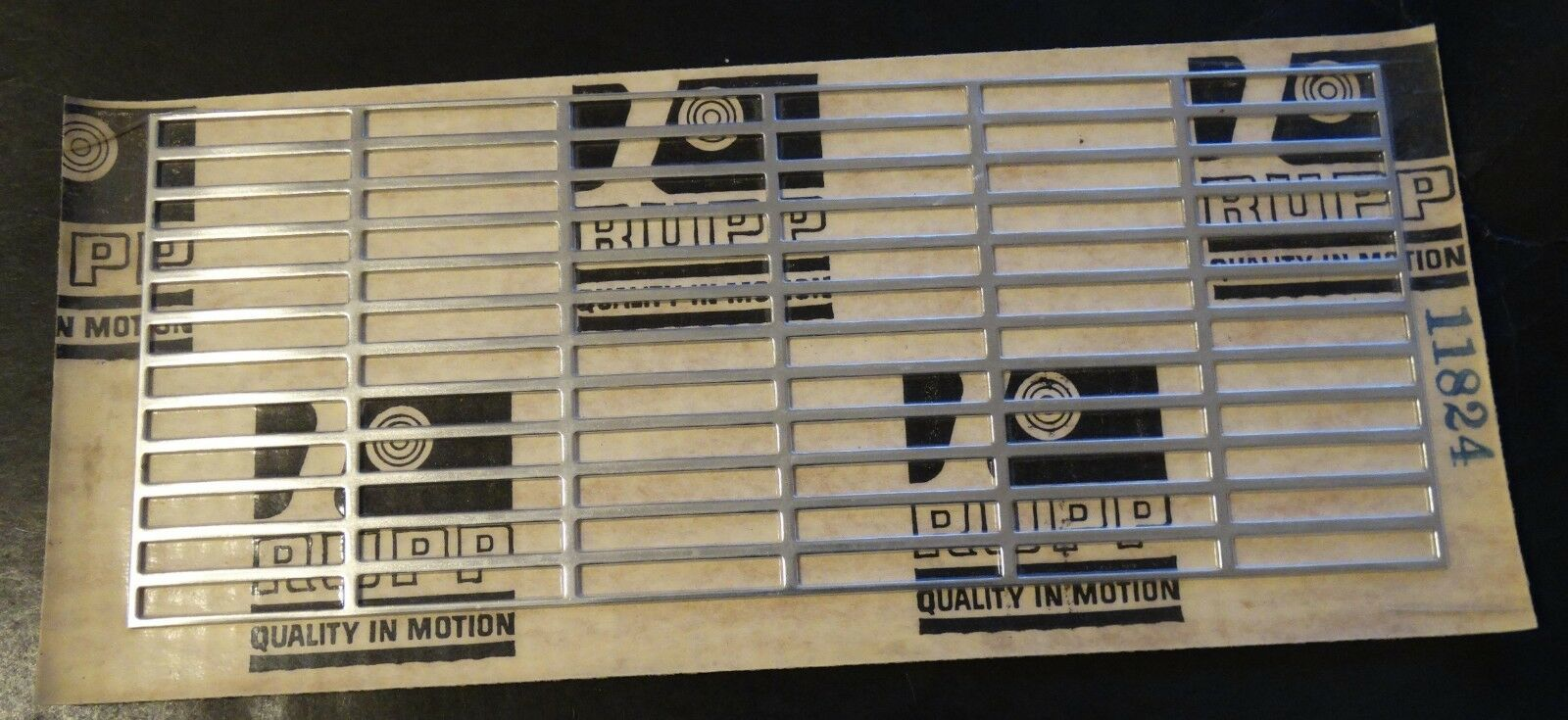 N.O.S. EARLY VINTAGE RUPP HOOD LOUVER 12  X 5  P N 11824 NEW