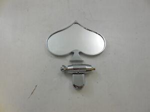 Universal  Chrome Aluminum Rear View Interior Mirror Poker Spade Style Hot Rod