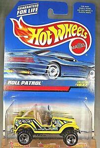 1999 Hot Wheels Roll Patrol Mudcat Yellow #1037 Thailand SBs Sawblades New