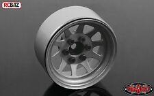 "OEM de acero estampado 1.9"" Ruedas Liso Plata Raw beadlock hexagonal 12mm RC4WD Z-W0212"