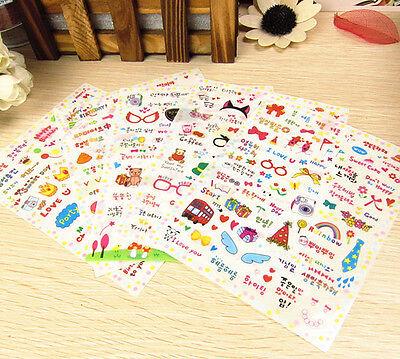 5 sheet polaroid English Korean transparent deco photo  calendar  diary sticker