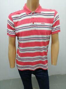 Dettagli su Polo FILA Uomo taglia size M maglia maglietta manica corta  cotone t-shirt 5642