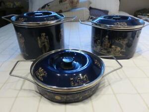 3-Vintage-Siltal-Depositata-Italy-Porcelain-Enamel-Italian-Cookware-ASIAN-THEME