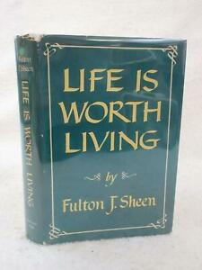 Fulton-J-Sheen-LIFE-IS-WORTH-LIVING-McGraw-Hill-1953-First-Edition-HC-DJ