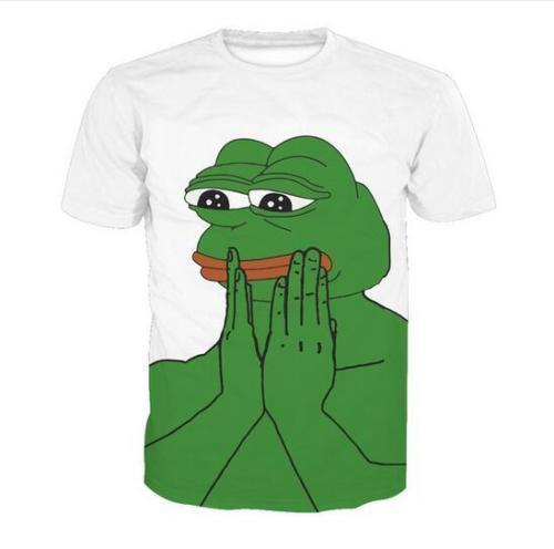 Newest Fashion Womens//Mens Pepe frog Funny 3D Print casual T-Shirt  AC33