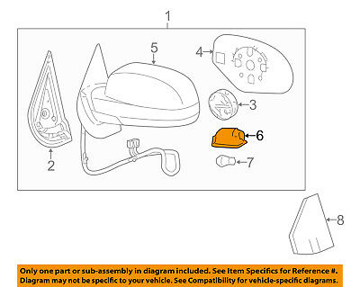 Outside Genuine GM 88980307 Rear View Mirror Courtesy Lamp