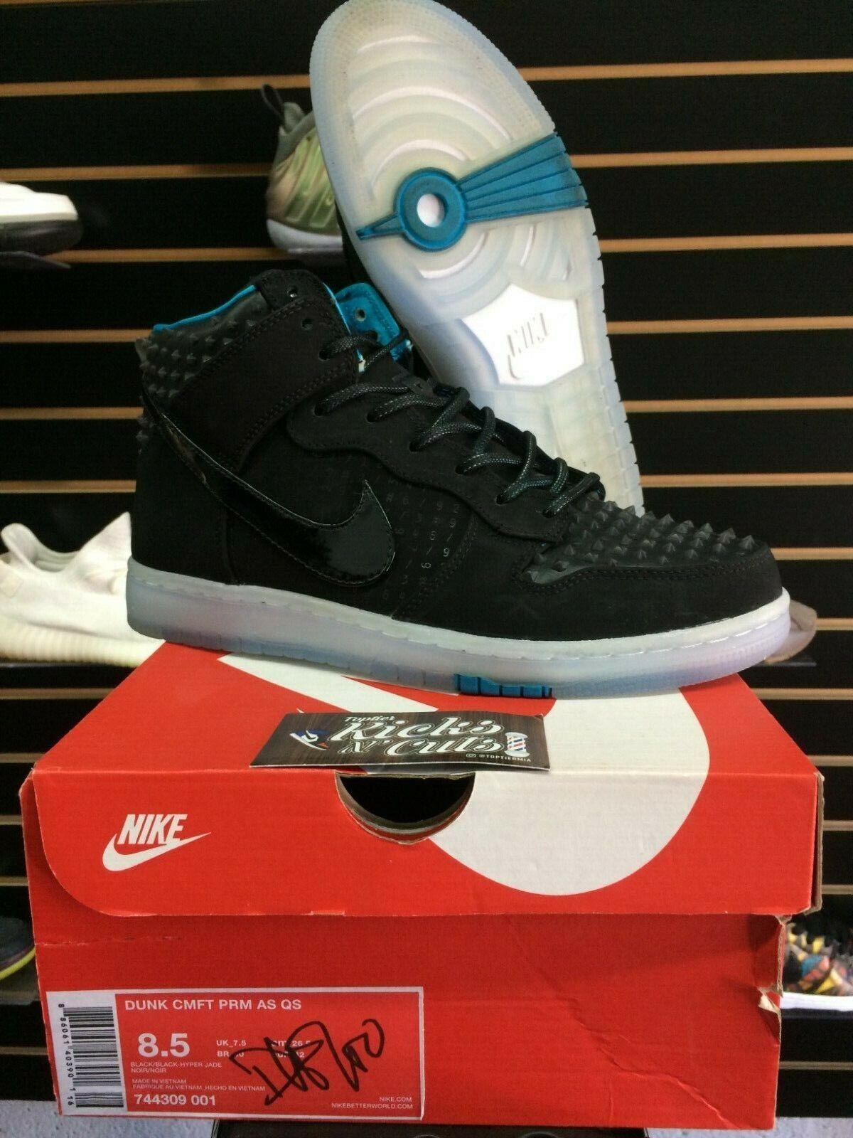 Nike Sb dunks CMFT all-stars sz 8.5 black hornet hyper jade sheep premium blazer