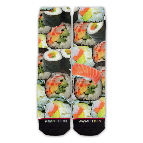 Sushi Roll Fashion Socks Salmon Fish Food Funny Japanese Nori Avocado Function