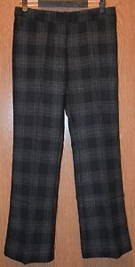 Womens Black Plaid Worthington Modern Fit Trouser Leg Pants Size 8 S NWT NEW