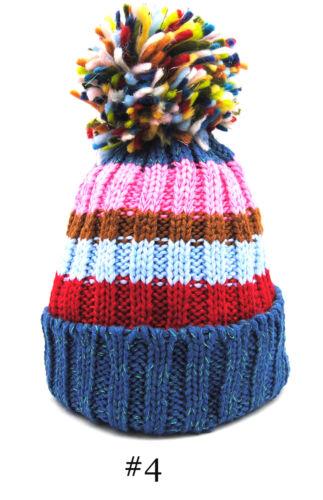 Cappello invernale donna berretto con risvolto e pon pon moda inverno cappellino