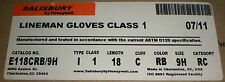 Electrical Safety Lineman Gloves Salisbury Honeywell E118crb9h Astm D120 Sealed