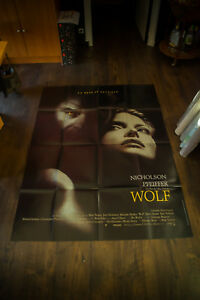 WOLF Jack Nicholson 4x6 ft Vintage French Grande Movie Poster Original 1993