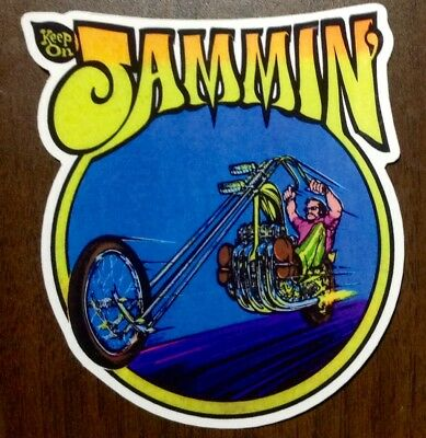 RAT ROD HOT ROD CHOPPER  TATTOO MOTORCYCLE   DECAL STICKER  JAMMIN