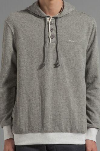 Maglione Nwt Pullover Mens Size Capo Noise Rvca Grigio Button Large Fleece BPfqqxTnU